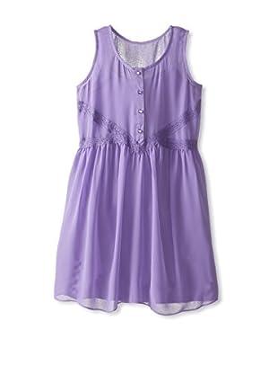 Blush by Us Angels Girl's Crochet Trim Tank Dress
