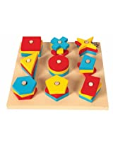 Skillofun Nine Shape Sorter, Multi Color