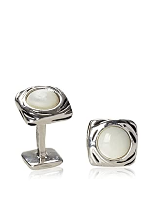 Rotenier Mother of Pearl Portal Cufflinks, Antiqued Silver