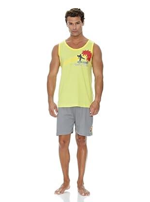 Monthalt Pijama Sport Estampado (Verde)