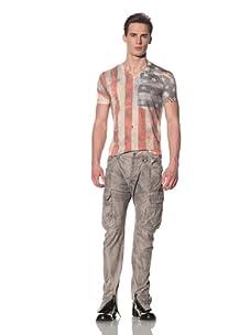 gene par YUKIO MISHIBA Men's Weathered Cargo Pant (Light Gray)