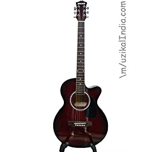 Walker Guitar with Cut (Wine Red)