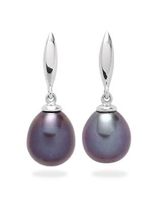Valero Pearls 356040 - Pendientes de mujer de plata con perla cultivada de agua dulce, 2 cm