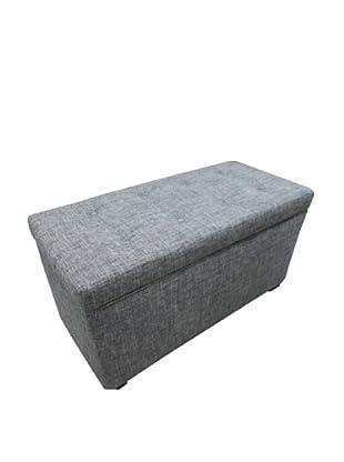Sole Designs Button-Tufted Storage Trunk, Black/Sand