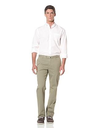 Incotex Men's Flat Front Cargo Pant (Military Green)