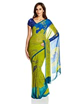 Satyapaul Saree with Blouse Piece (RD8910_01_F006-0432_Light Olive)