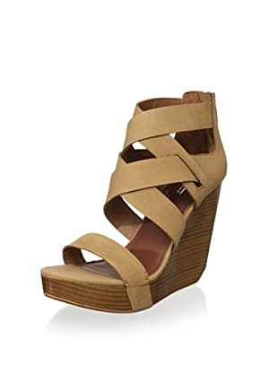Matiko Women's Stacey Wedge Sandal (Light Brown)