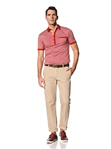 Benson Men's Woven Fancy Pant (British Khaki)