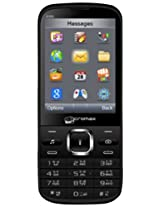 Micromax X351 Multimedia Phone, Black And Silver