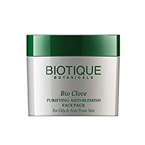 Biotique Bio Clove Purifying Anti-Blemish Face Pack For Oily & Acne Prone Skin, 75G