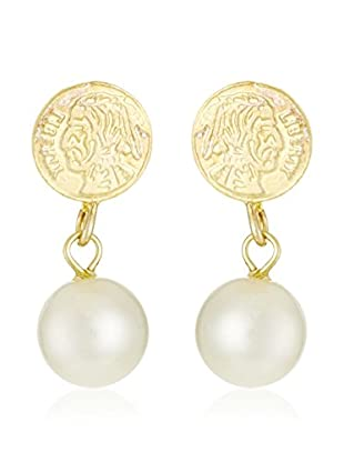 Cordoba Jewelles Pendientes plata de ley 925 milésimas bañada en oro