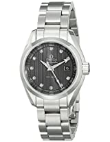 Omega Women's 23110306056001 Analog Display Swiss Quartz Silver Watch