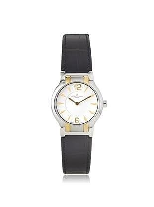 Jacques Lemans Women's GU227B Black/Silver Genuine Leather Watch