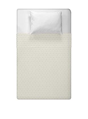 e by design Geometric Duvet Cover (Ivory/Taupe)