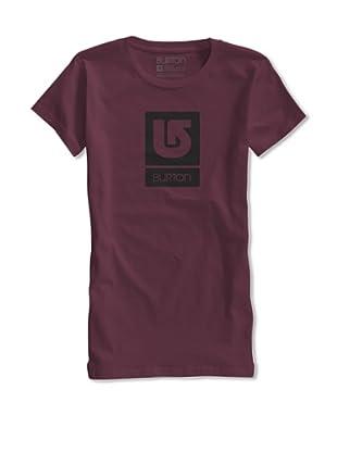 Burton Camiseta Logo Vertical (Vino)