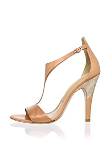 Sigerson Morrison Women's Phebe T-Strap Sandal (Tan)