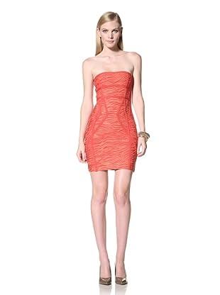 Stretta Women's Roxanne Multi-Band Printed Tube Dress (Red Print)
