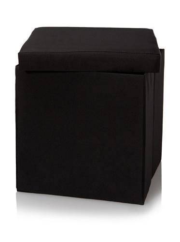 Creative Bath Fold-N-Store Ottoman (Black)