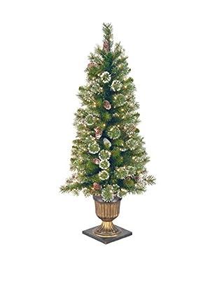 National Tree Company 4' Glittery Pine Entrance Tree