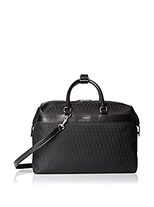 Saint-Laurent Jacquared Monogram Small East/West Zipped Tote, Black