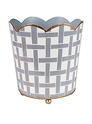 Jayes Basketweave Decorative Cachepot, Grey
