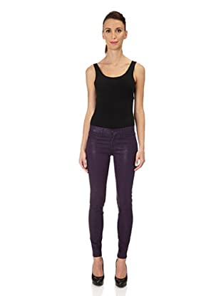 J Brand Leggings Low Rise Satin (coatedporple)