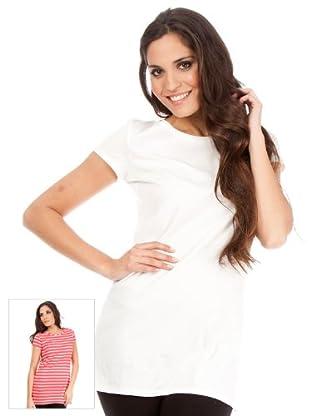 Cortefiel Pack Camisetas Combinada (Frambuesa / Blanco)