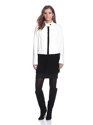 Calvin Klein Women's Colorblock Coat (Birch)