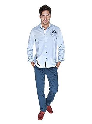 Giorgio Di Mare Camisa Worked Drake (Azul)
