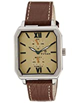 Titan Octane Analog Cream Dial Men's Watch - 1643SL02