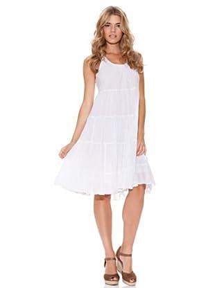 Peace & Love Vestido Arrugado (blanco)