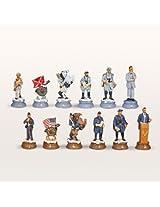 Blue & Grey Civil War Chess Pieces