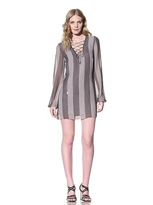 Sheri Bodell Women's Breton Lace-Up Dress with Crystals (Smoke)