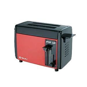 Bajaj Pop Up Toaster-Black with Red