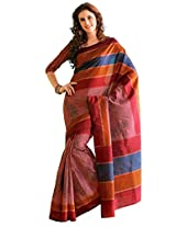 Orbymart Exclusive Designer Raw Silk Multi Colour Printed Saree - 55252166