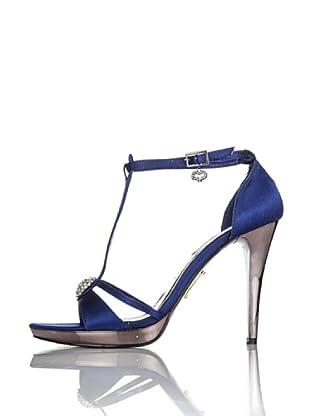 Miss Roberta Sandalo Raso Cinturino T (Blu notte)