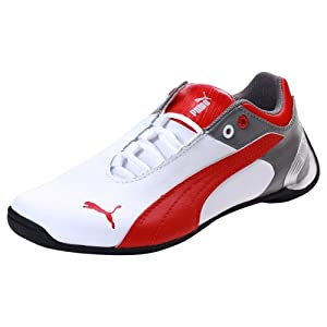 Puma Kids Future Cat M2 Jr White Ribbon Red Sports Shoes