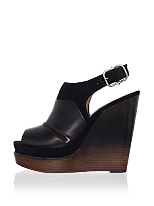 Modern Vintage Women's Liana Wedge Sandal (Black/black)