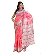 Parchayee Synthetic Pink Saree (91259)