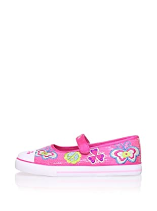 Pablosky Kid's Embroidered Mary Jane (Fuchsia)