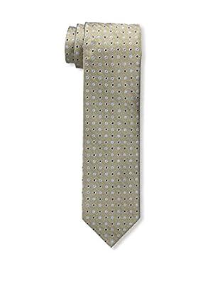 Bruno Piattelli Men's Slim Dotted Tie, Taupe