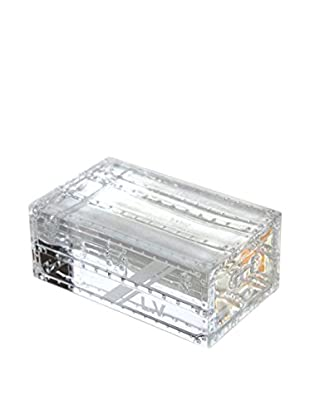 Louis Vuitton Vintage Crystal Trunk Paperweight, Clear