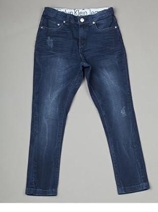 Calvin Klein Jeans Jungen Jeans CBB342 EJ1L8, Straight Fit (Blau(D77 ))