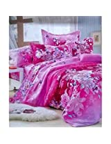 Reliable Multicolor Floral Double Bedsheet With 2 Pillow Covers