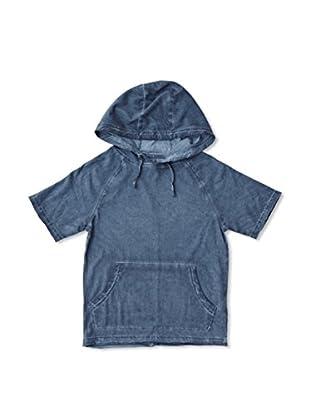 New Caro Camiseta Manga Corta Capucha Niño (Azul)