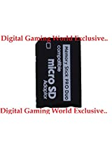 Digital Gaming World Micro SD To Pro Duo Adapter/Converter For Sony PSP.