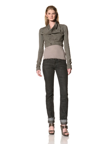 RICK OWENS Women's Cropped Jacket (Dark Dust)
