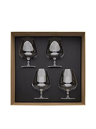 Guy DeGrenne Set of 4 20.6-Oz. Anytime Cognac Glasses, Transparent