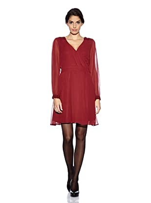 Uttam Boutique Kleid Wrap (Burgundy)
