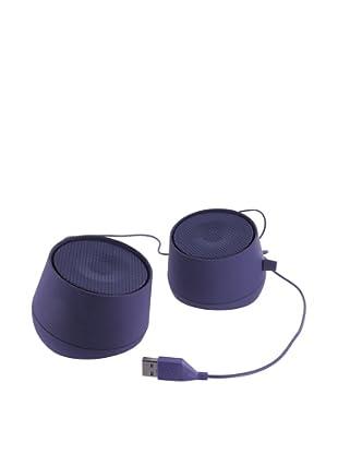 Lexon Galaxy Rechargeable Speakers, Purple